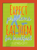 Quote poster. Qoute typographic decorative colorful poster Stock Images