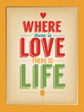 Quote poster. Qoute typographic decorative colorful poster Stock Photo
