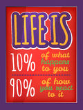 Quote poster. Qoute typographic decorative colorful poster Stock Image