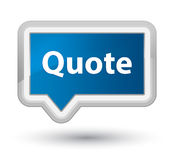 Quote prime blue banner button Stock Image