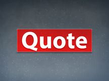 Quote Red Banner Abstract Background. Quote Isolated on Red Banner Abstract Background illustration Design stock illustration
