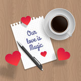 Quote: Romantic date. Vector illustration royalty free illustration