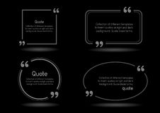 Quote shadow black background Stock Photos