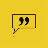 Quote sign icon. Stock Images