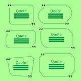 Quote Speech Bubbles Royalty Free Stock Image