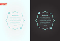 Quote Template Bubble. Template Vector Quote Set. Trendy Colors. Royalty Free Stock Images