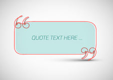 Quote template with place for your quotation Stock Photo
