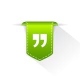 Quote text bookmark. Flat design element stock illustration