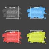 Quote text bubble. Commas, note, message and comment. Design element Stock Images