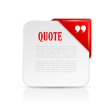 Quote text card with red header Royalty Free Stock Photos