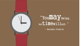 Quote of Time Royalty Free Stock Photos