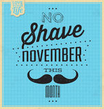 Quote Typographic Background / No Shave November Stock Images