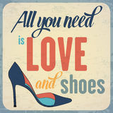 Quote Typographic Background about shoes Stock Photo