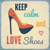 Quote Typographic Background about shoes Royalty Free Stock Photography