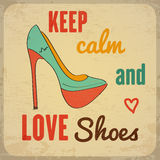 Quote Typographic Background about shoes Royalty Free Stock Photos