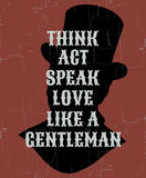Quote typographical background about gentleman Stock Photography