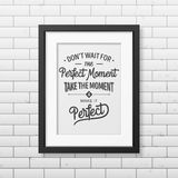 Quote typographical Background in realistic square Stock Photography