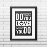 Quote typographical Background in realistic square Royalty Free Stock Images