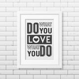 Quote typographical Background in realistic square Royalty Free Stock Photos