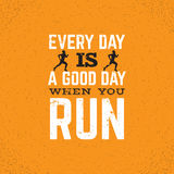 Quote typographical background about running Royalty Free Stock Photography