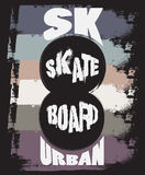 Quote typographical background about skateboard Stock Photo