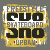 Quote typographical background about skateboard Stock Photos