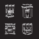 Quote typographical background about tequila Royalty Free Stock Photo