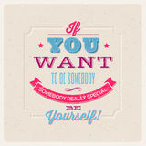 Quote Typographical Design royalty free illustration