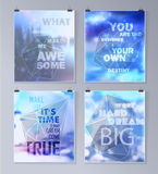 Quote Typographical galaxy Background Royalty Free Stock Photo