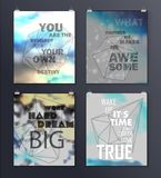 Quote Typographical galaxy Background Royalty Free Stock Photography