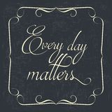 Quote Typographical retro Background Stock Image
