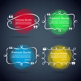 Quote vector border set Royalty Free Stock Photography