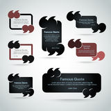 Quote vector border set Royalty Free Stock Photos