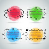 Quote vector border set Royalty Free Stock Images