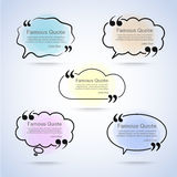 Quote vector border set Royalty Free Stock Photo