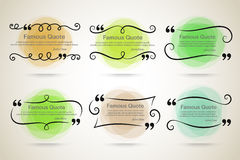 Quote vector border set Stock Photo