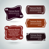 Quote vector border set Stock Photos