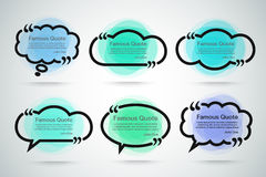 Quote vector border set Stock Images