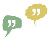 Quote vector icons in speak bubbles Stock Photography