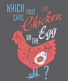 Quote: Which Came First, the Chicken or the Egg? Stock Images