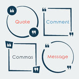 Quotebubble Stock Photography