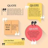 Quotes Bubble Set. Set of bubble for quotes and captions Royalty Free Stock Photo