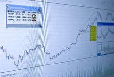 Quotes and Chart at the stock exchange. Let's make money! Cooling filter royalty free stock photo