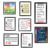 Quotes frame set Royalty Free Stock Image