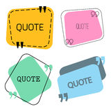 Quotes frame and sign set Stock Image