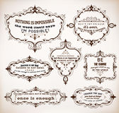 7 Quotes and frames. Royalty Free Stock Image