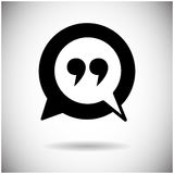 Quotes Icon Quotation Mark Stock Image