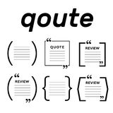 Quotes icon vector set. Quote marks vector symbol. Chat quote icon stock photos