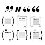 Quotes icon vector set. Quote marks vector symbol. Chat quote icon stock photography