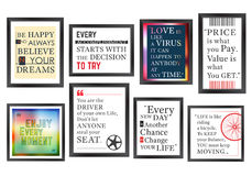 Quotes motivation frames set Royalty Free Stock Photography